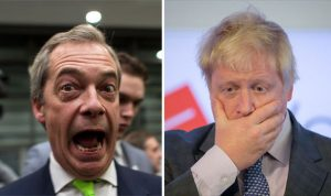 Boris Johnston and Nigel Farage doing what they do best