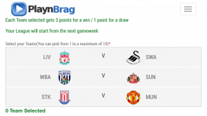 Premier League - Pick Teams to make up Your Team