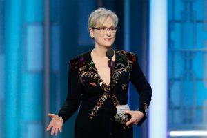 Meryl Streep delivering her speech