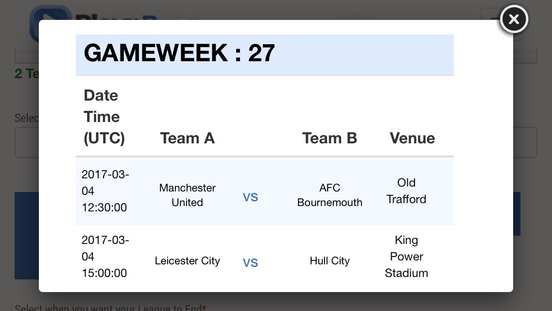 Gameweek 27 - Premier League - Preview