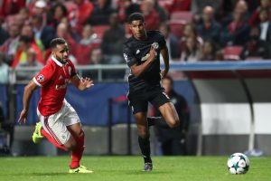 Rashford in Action against Benfica