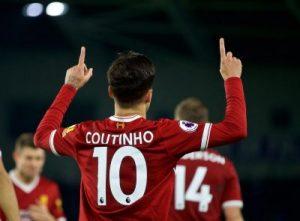 Coutinho hits a hat-trick