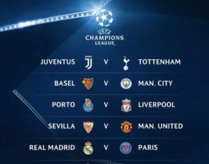 Champions League - Last 16 - Part 1